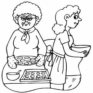 baked treats coloring pages | Baking Holidays Cookies Coloring Page