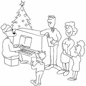 singing in church coloring pages - photo#23