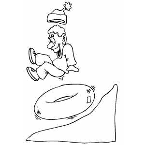 making snow angels coloring pages | Innertubing Coloring Page
