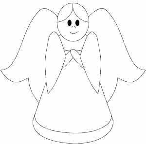 Pics Photos  Angel Coloring Page Angel With Flying Heart