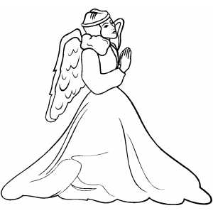 Praying Angel coloring page
