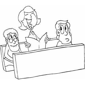 singing in church coloring pages - photo#1