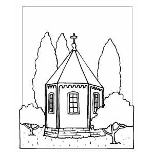 Little Chapel Coloring Page