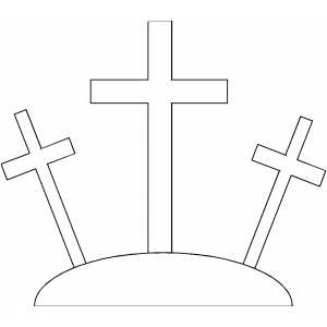 three crosses coloring page - three crosses coloring page