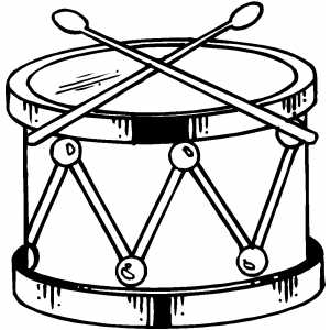 Drums Coloring Pages Drum Coloring Page