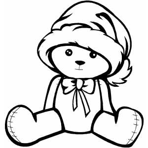 Small Bear In Hat coloring page