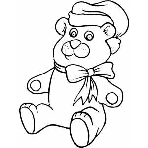 Smiling Bear coloring page
