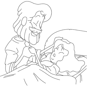 Christian Coloring Page Jesus Heals Coloring Pages