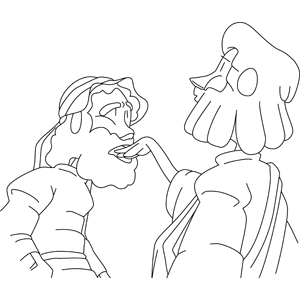 Coloring Picture Of Jesus Healing The Deaf Coloring Pages