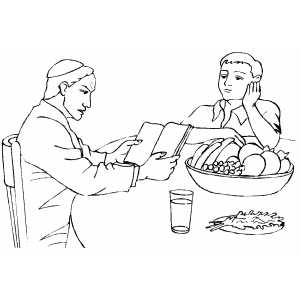 Reading The Bible Coloring Pages Coloring Pages