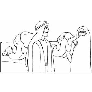 isaac and rebekah coloring pages - photo#18