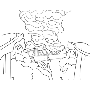 The Cloud Above The Tabernacle Coloring Page