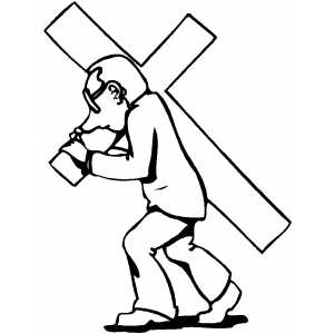Carrying The Cross coloring page