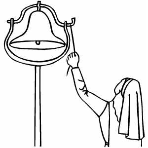 church bells coloring pages | Church Bell Coloring Pages