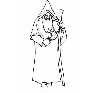 Orthodox Priest Coloring Page