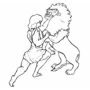 Samson and Delilah - Old Testament Coloring Pages | Bible-Printables | 300x300