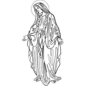The Virgin Mary Coloring Page