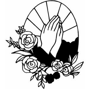 praying hands coloring page - prayer coloring page