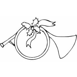 Horn Coloring Page