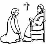 church scene coloring pages - photo#13