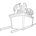 The Ark of the Covenant Coloring Sheet